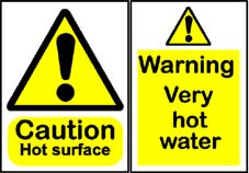 More info on High Temperature Hazard Warning Signs