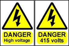 More info on High Voltage Hazard Warning Signs