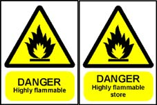 More info on Highly Flammable Hazard Warning Signs