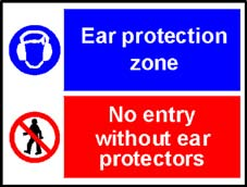 More info on 'Ear Protection Zone/No Entry Without Ear Protectors' - Safety Sign