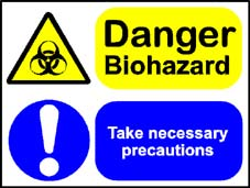 More info on 'Danger Biohazard - Take Necessary Precautions' - Safety Sign